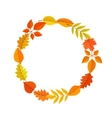 Autumn garland of bright fall leaves vector image