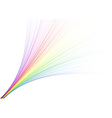 rainbow fountain vector image vector image