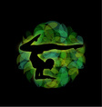 Silhouette of a person doing gymnastics or exercis vector image