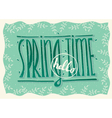 Hello spring time vector image