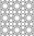 Seamless monochrome ethnic pattern vector image