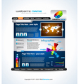 Website Layout vector image vector image