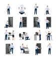 System Administrator Icons Set vector image vector image