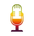 microphone sound device icon vector image