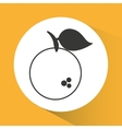 orange fresh fruit drawing icon vector image