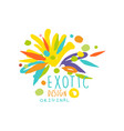 original hand drawn exotic logo template vector image