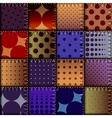 Patchwork of denim fabric vector image