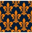Seamless victorian fleur-de-lis flowers pattern vector image