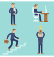 Set of business and career concepts in flat style vector image