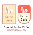 special easter offer with two sale card vector image