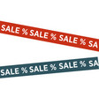 tapes with sale words vector image