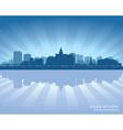 Saskatoon Canada skyline silhouette vector image vector image
