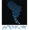 map dot america south vector image