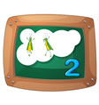A blackboard with two grasshoppers vector image vector image