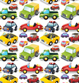 Seamless different kind of transportations vector image