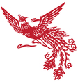 Chinese phoenix vector image vector image