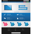 business website template vector image
