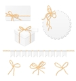 Celebration set with bakers twine bows vector image