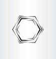 hexagon frame stylized background black vector image