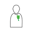 man with eco tree vector image