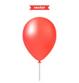 red air balloon realistic 3d vector image