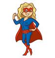 super hero woman cartoon character vector image