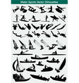 Water sports silhouettes vector image