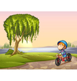 boy in park vector image vector image