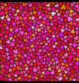 Seamless hand drawn background with hearts vector image