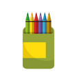 pencils colored box vector image
