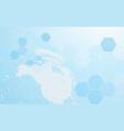 Abstract globe and technology digital hi tech vector image