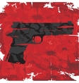 Vintage grunge gun graphic design vector image