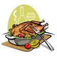 roast goose vector image