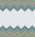 Zigzag pattern with white space for text or logo vector image