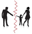 Divorce and separation of father and baby vector image vector image