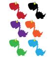dino cartoon cute color vector image vector image