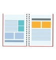 open wired notebook icon vector image