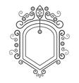 Victorian ornament graphic design vector image