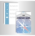 A set of cards with the image of a compass vector image