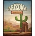 Arizona travel retro poster vector image