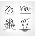 building development symbol emblem set vector image