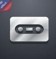 Cassette icon symbol 3D style Trendy modern design vector image