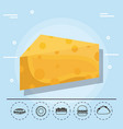 cheese for family summer vector image