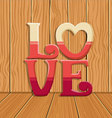 Cute Love design background vector image