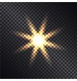 defocused lightning sun on transparent background vector image