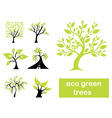 Eco green trees vector image