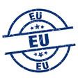 eu blue round grunge stamp vector image