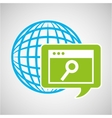 globe development technology page search vector image