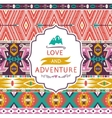 Hipster seamless tribal pattern with geometric vector image