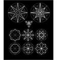 impossible geometry symbols set vector image